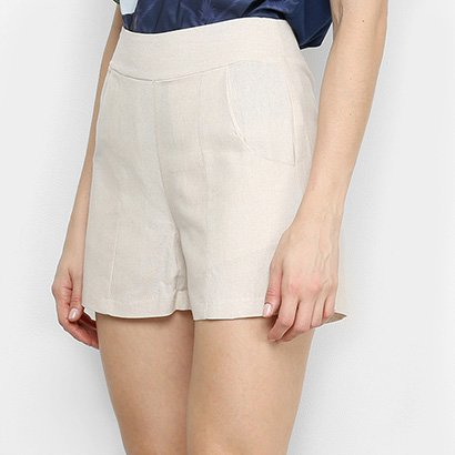 Short Mercatto Liso Feminino