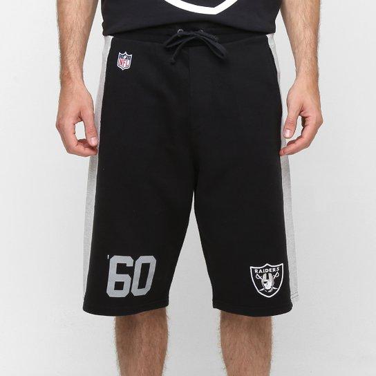 73008bb4f Bermuda New Era NFL Goal Oakland Raiders - Preto+Cinza ...