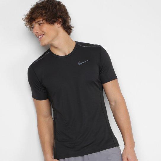 4f07902a2b Camiseta Nike Miler Tech SS Masculina - Preto e Cinza - Compre Agora ...