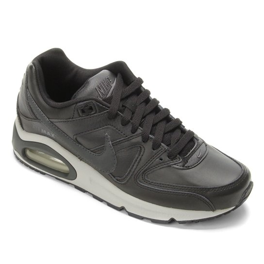 ac0469344 Tênis Nike Air Max Command Leather Masculino - Preto e Cinza ...