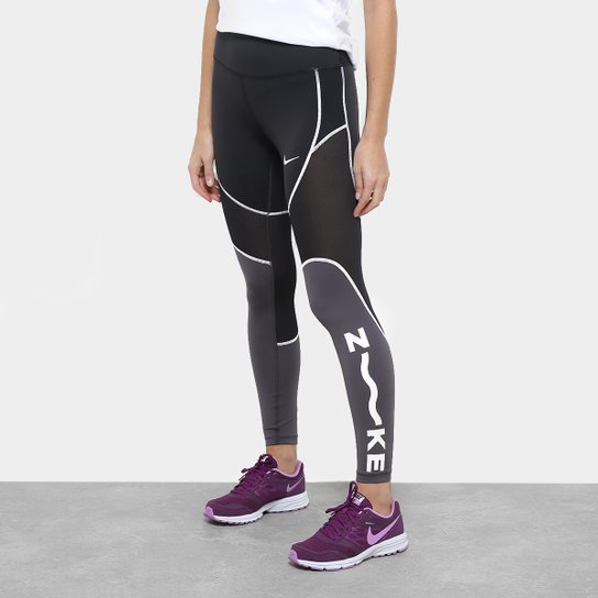 2c3fcdc96d212e Calça Legging Nike One Tight 7/8 Sd Feminina - Preto e Cinza