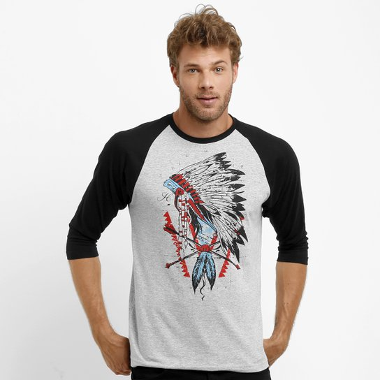Camiseta Raglan Hosh Wear 3 4 Indian - Compre Agora  fbfb568926a4d