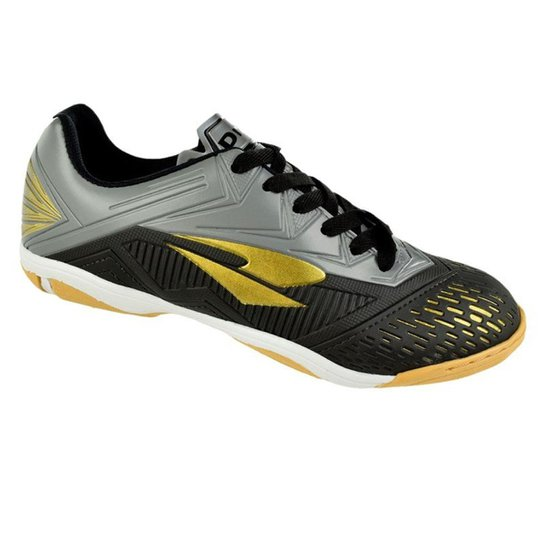 9058358dfa3a8 Tênis de Futsal Dray Preto Masculino - Preto+Cinza