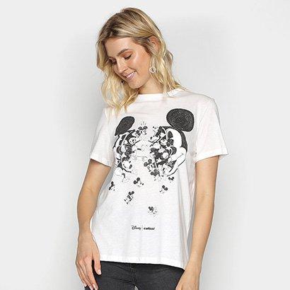 Camiseta Colcci Básica Mickey Feminina