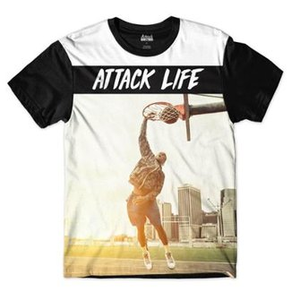 Camiseta Attack Life Enterrando Sublimada Masculina