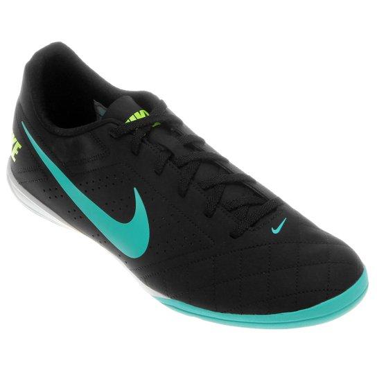 9eb0f1ae94 Chuteira Futsal Nike Beco 2 Futsal - Preto e Azul claro