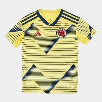 e0baec43d Camisa Colômbia Infantil Home 19 20 s n° Torcedor Adidas