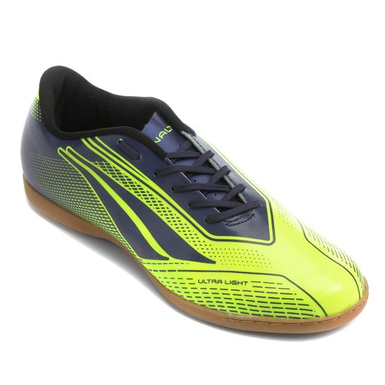 e99aea66a6 Chuteira Futsal Penalty Storm Speed 7 Masculina - Amarelo e Marinho ...