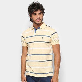 Camisa Polo Aleatory Fio tinto Listrada Masculina 6e33d05296bc3