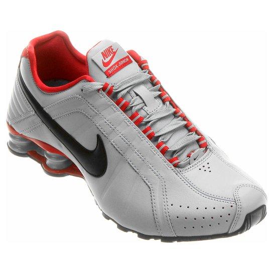 2d8526758f9 Tênis Nike Shox Junior - Cinza+Vermelho