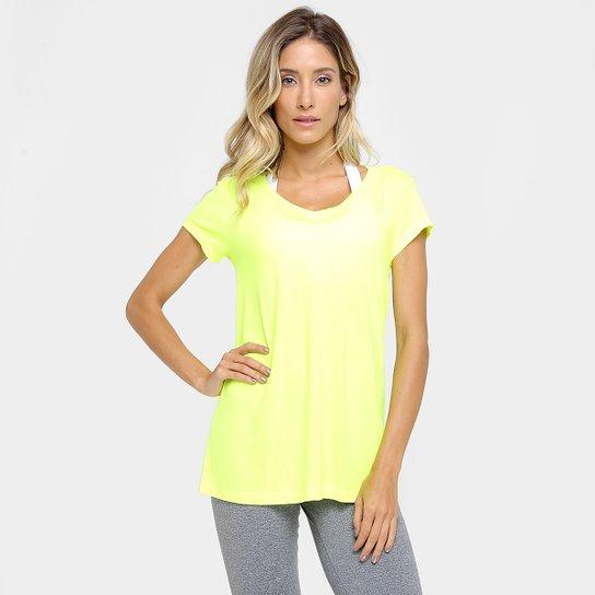 4e0aff01ee Camiseta Fila Bio Feminina - Amarelo Fluorescente