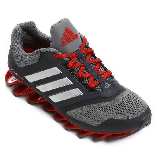 Tênis Adidas Springblade 2 Masculino - Cinza+Vermelho 7c43151040f9f