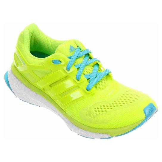 899609bb42 Tênis Adidas Energy Boost ESM Masculino - Verde Limão+Azul Turquesa
