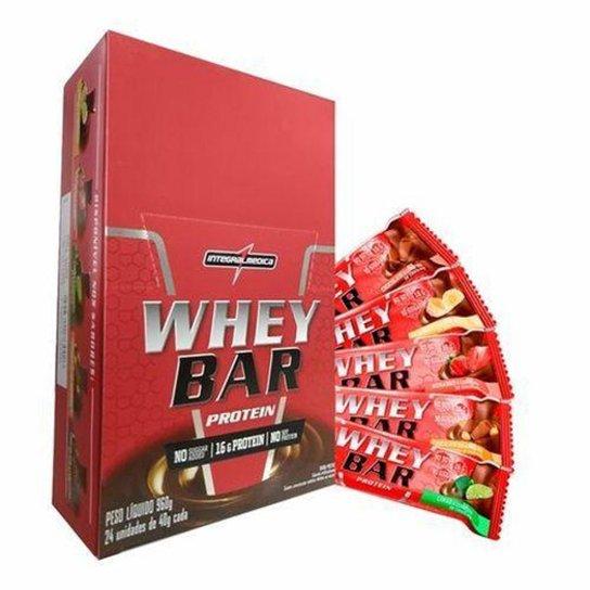 283294d47 Barra de Proteína Whey Bar 24 unidades - IntegralMédica - Chocolate ...