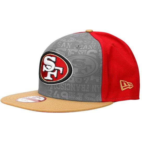 35e8f1f29f211 Boné New Era 950 NFL San Francisco 49ers - Cinza+Vermelho