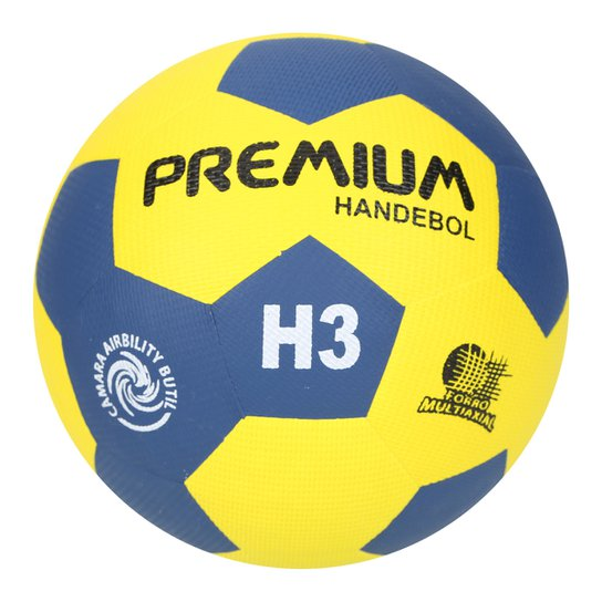 62b54a3ef Bola Handebol Premium H3 S C - 2017 - Amarelo+Azul
