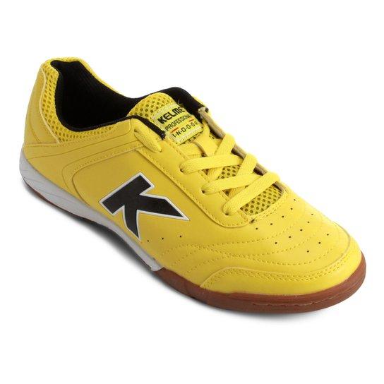 31acdc4c62925 Chuteira Futsal Kelme Precision Trn - Amarelo e Preto - Compre Agora ...