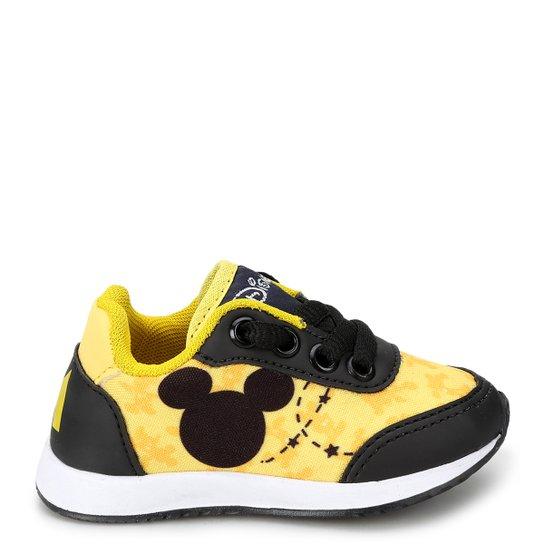 dd31e396f4 Tênis Infantil Disney Mickey Masculino - Amarelo e Preto