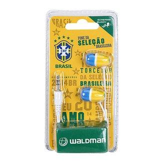 Fone de Ouvido Seleção Brasileira Waldman Screamin Buddy 106e1afca9311