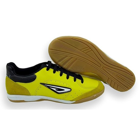 5acf1194f0 Chuteira Futsal Couro Diavolo Touch Masculina - Amarelo e Preto ...