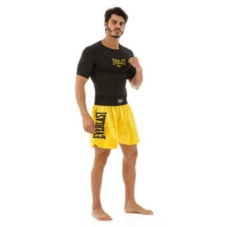 Shorts De Muay Thai Com Bordado Assinatura