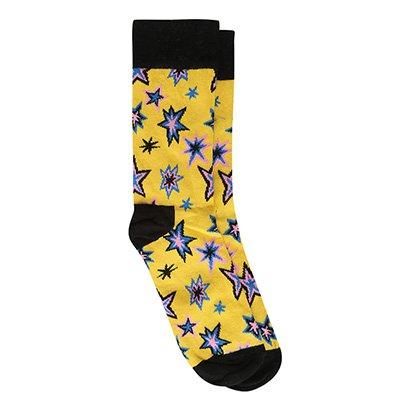 Meia Happy Socks Cano Alto Argyle Masculina