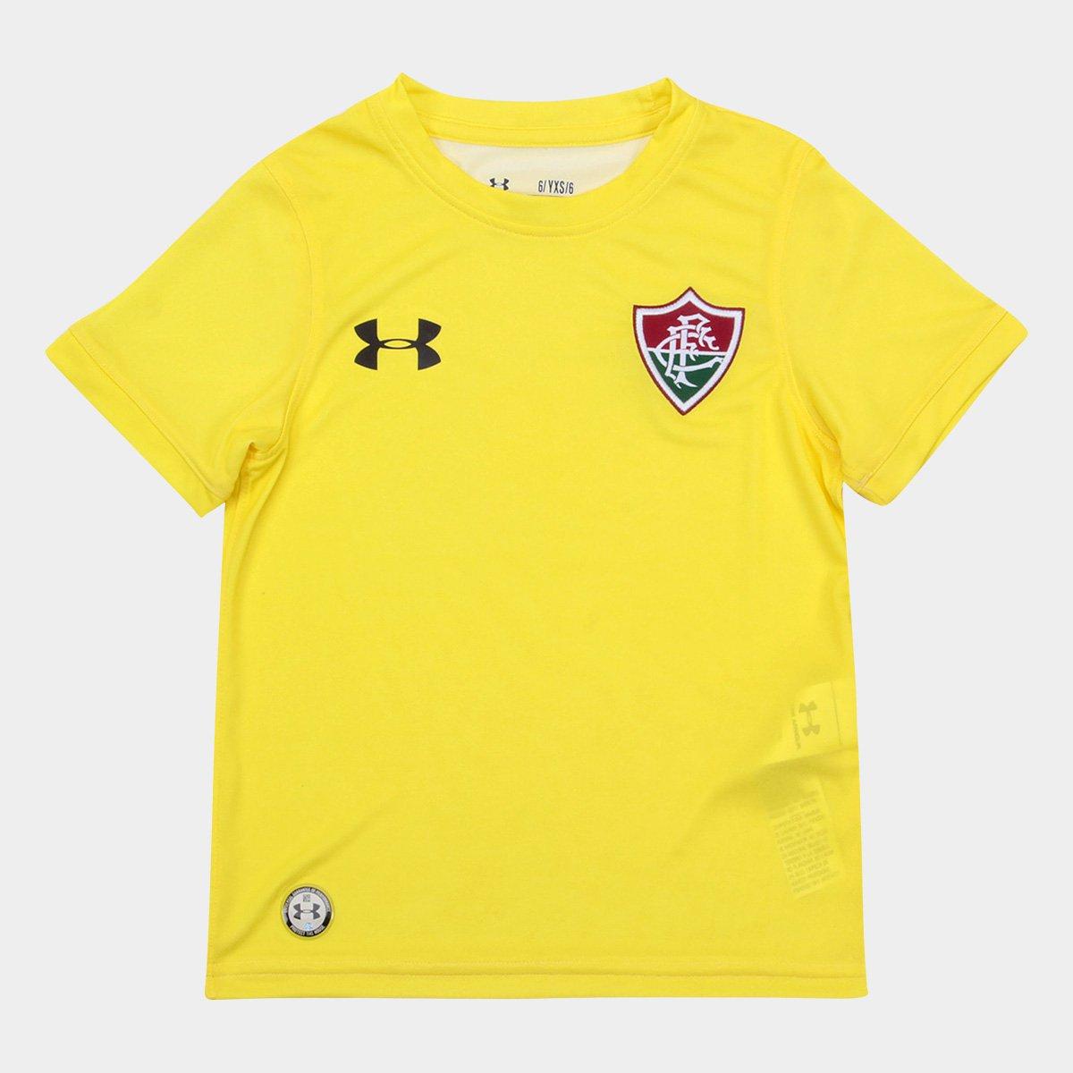 ddb7f2e3ed Camisa Fluminense I Infantil 17 18 s nº Torcedor Under Armour