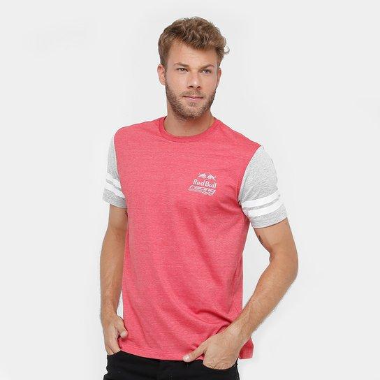 2e582e6498492 Camiseta Red Bull Racing Sc Line Masculina - Cinza+Vermelho