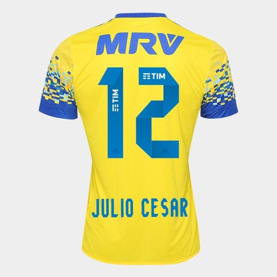 Camisa Flamengo II 17 18 N° 12 Júlio César Torcedor Adidas Masculina -  Amarelo 9b23572054d24