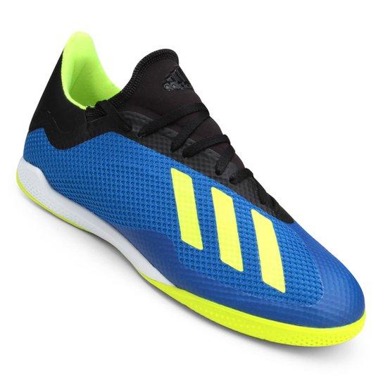 668f957c1e5 Chuteira Futsal Adidas X Tango 18 3 IN - Azul e amarelo | Netshoes