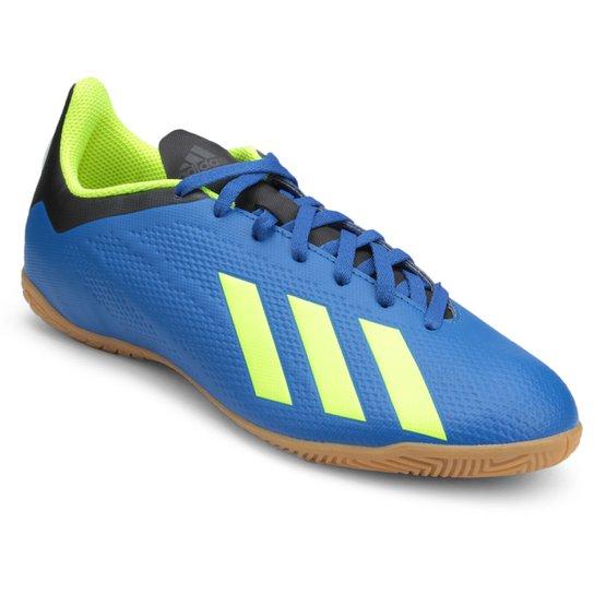 fd9da13aca9ac Chuteira Futsal Adidas X Tango 18 4 IN - Azul e amarelo | Netshoes