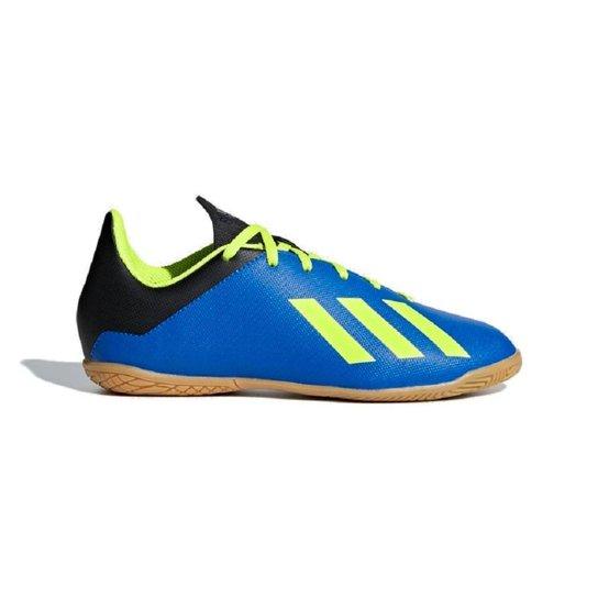 Chuteira Futsal Infantil Adidas X Tango 18 4 In - Azul e amarelo ... f7fe653a0811c