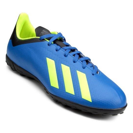 9e43529929 Chuteira Society Adidas X Tango 18 4 TF - Azul e Preto - Compre ...