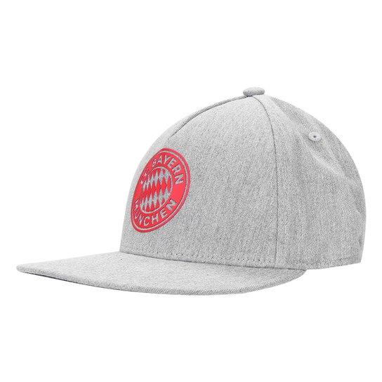 Boné Adidas Bayern de Munique CW Aba Reta - Cinza e Vermelho ... 1718214ed7d