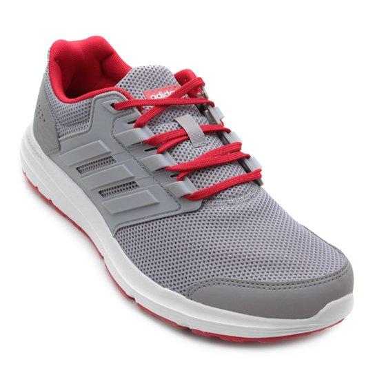 Tênis Adidas Galaxy 4 Masculino - Cinza e Vermelho - Compre Agora ... 461908421ed1c