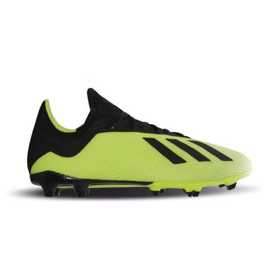 Chuteira Campo Adidas X 18 3 FG - Amarelo e Preto - Compre Agora ... 280794905c0c4