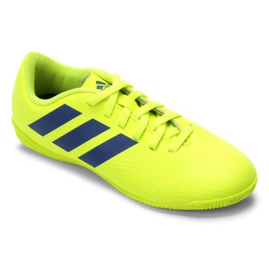 abb7abbf1eb21 Chuteira Futsal Infantil Adidas Nemeziz 18.4 IN - Amarelo e Azul ...