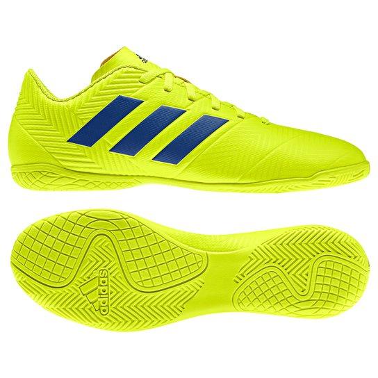 92fedb60f56b Chuteira Futsal Adidas Nemeziz 18 4 IN - Amarelo e Azul - Compre ...