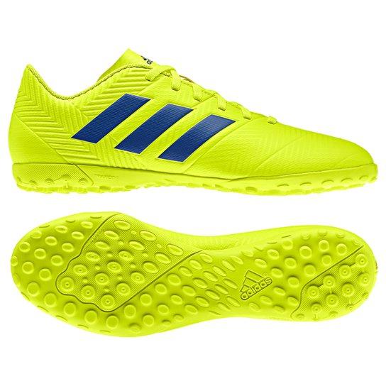 eb06998469 Chuteira Society Adidas Nemeziz 18 4 TF - Amarelo e Azul
