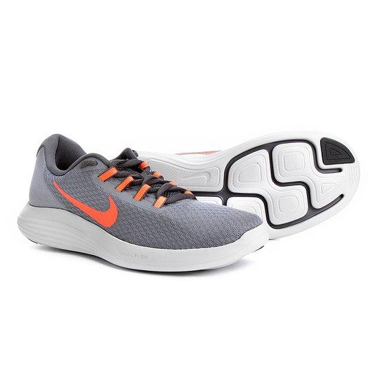 15a04dfb989 Tênis Nike Lunarconverge Masculino - Cinza+Vermelho
