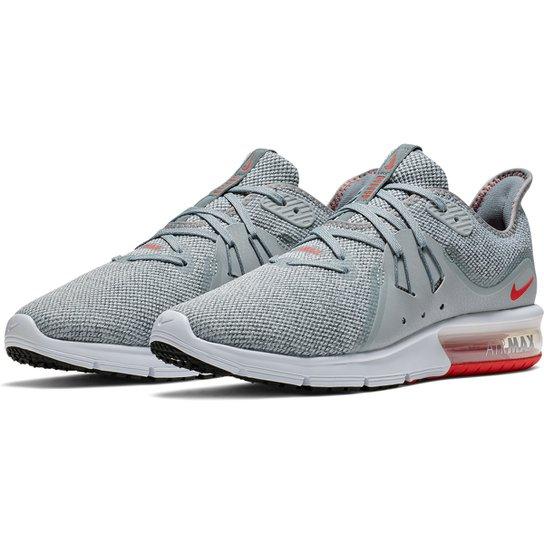 edad4f67311 Tênis Nike Air Max Sequent 3 Masculino - Cinza e Vermelho - Compre ...
