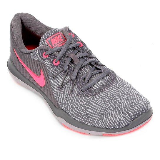 Tênis Nike Flex Supreme TR 6 Feminino - Cinza e Pink - Compre Agora ... 42da4714e86d3