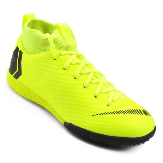 Chuteira Futsal Infantil Nike Mercurial Superfly 6 Academy - Amarelo+Preto 9350745ed37df