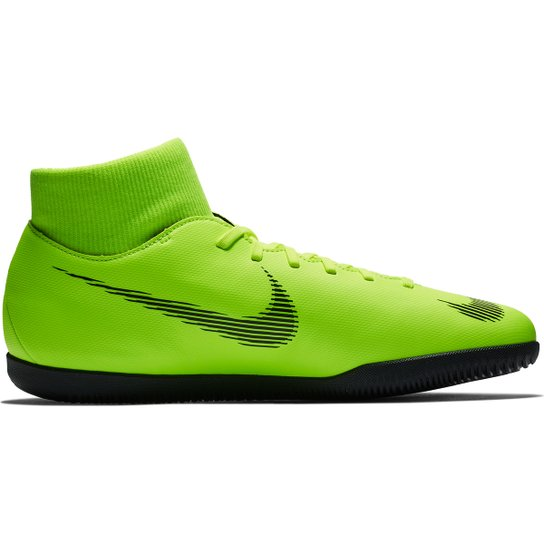 f4a198e09b Chuteira Futsal Nike Mercurial Superfly 6 Club - Verde e Preto ...