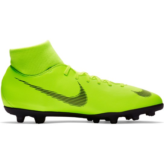 cf1360011457c Chuteira Campo Nike Mercurial Superfly 6 Club - Verde e Preto | Netshoes