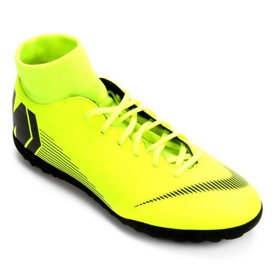ece8d86590e50 Chuteira Society Nike Mercurial Superfly 6 Club - Amarelo e Preto ...