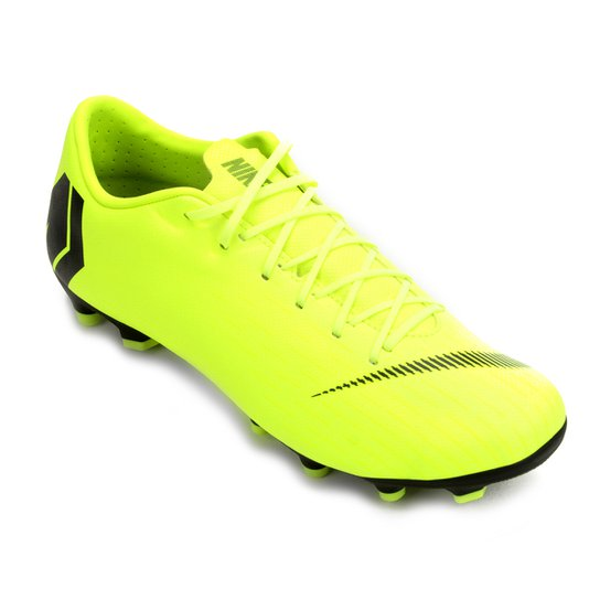 Chuteira Campo Nike Mercurial Vapor 12 Academy - Amarelo e Preto ... bb682e9dd13ac
