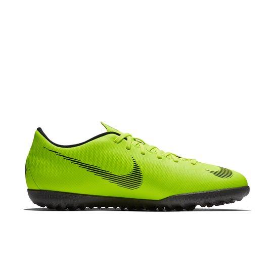 6629d92bca Chuteira Society Nike Mercurial Vapor 12 Club - Verde e Preto