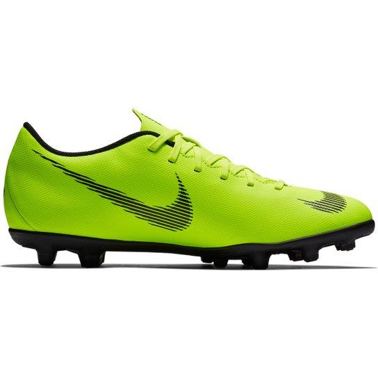 e753da18e9 Chuteira Campo Nike Mercurial Vapor 12 Club - Verde e Preto - Compre ...