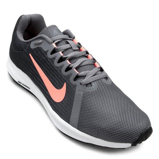9d8b3fa358 Tênis Nike Wmns Downshifter 8 Feminino - Cinza e Vermelho - Compre ...